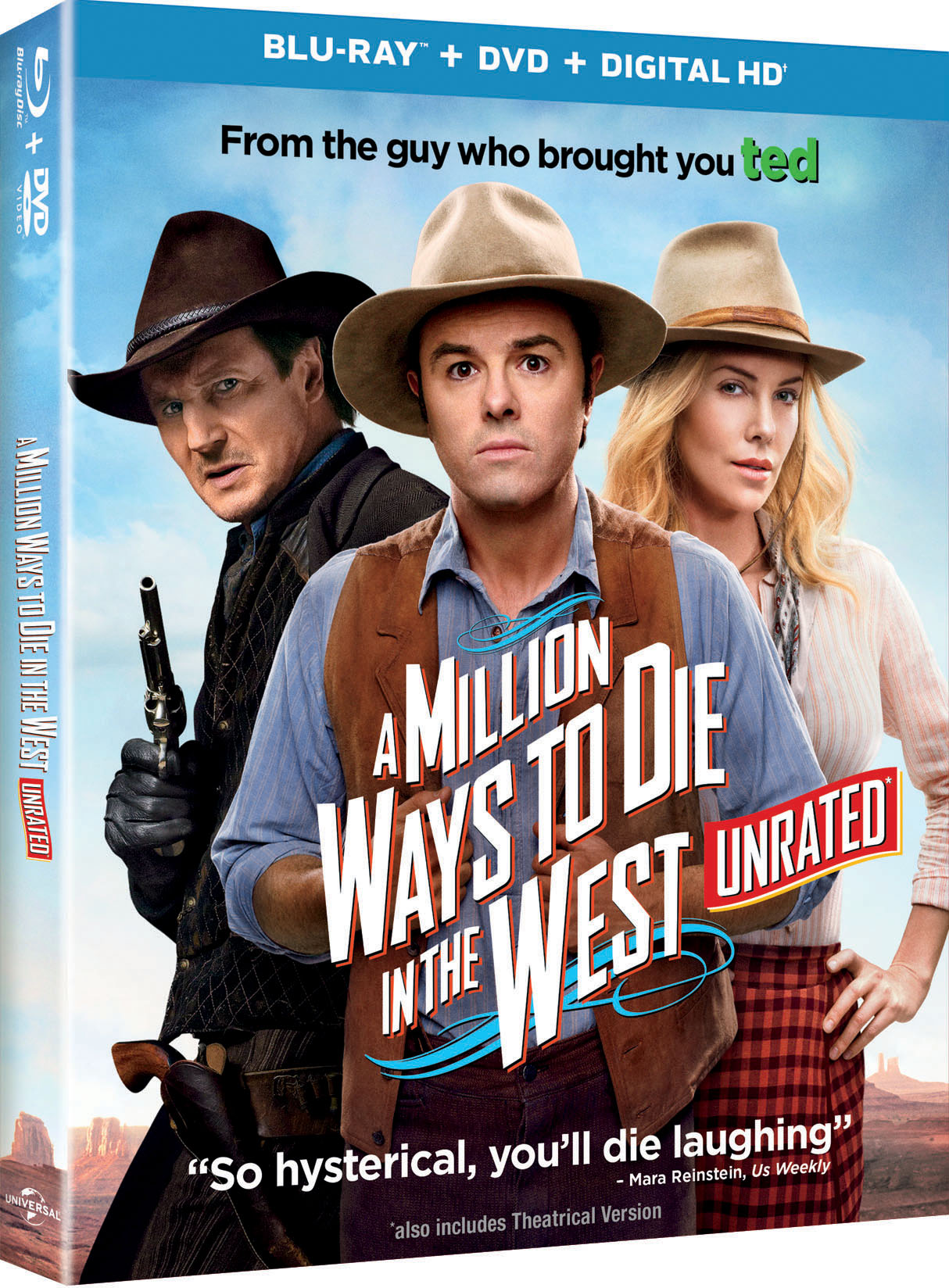 A Million Ways to Die in the West blu-ray