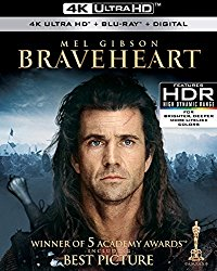 Braveheart 4K (Blu-ray + DVD + Digital HD)