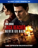 Jack Reacher Never Go Back Blu-ray Cover