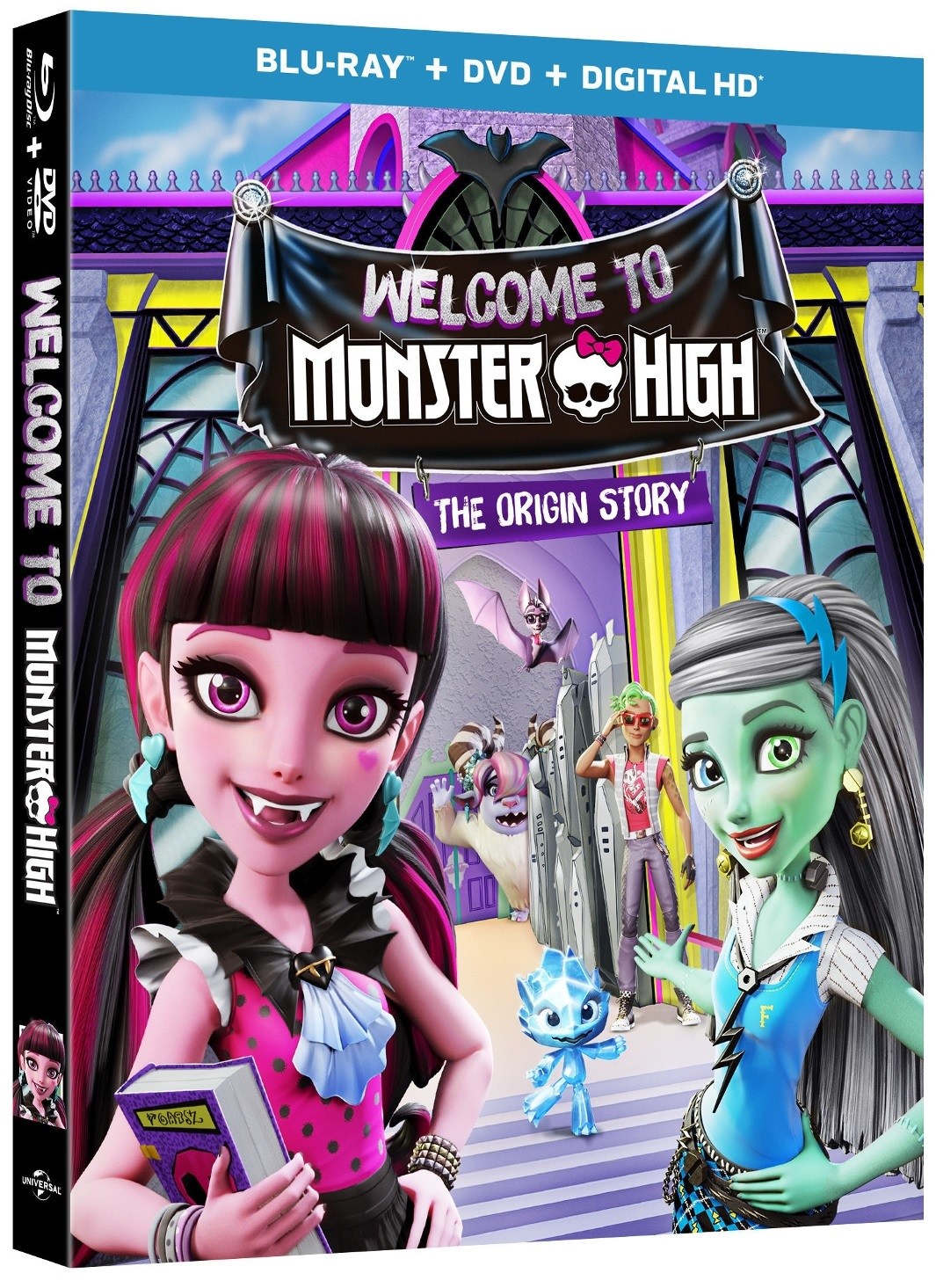 WELCOME TO MONSTER HIGH THE ORIGIN STORY Blu-ray