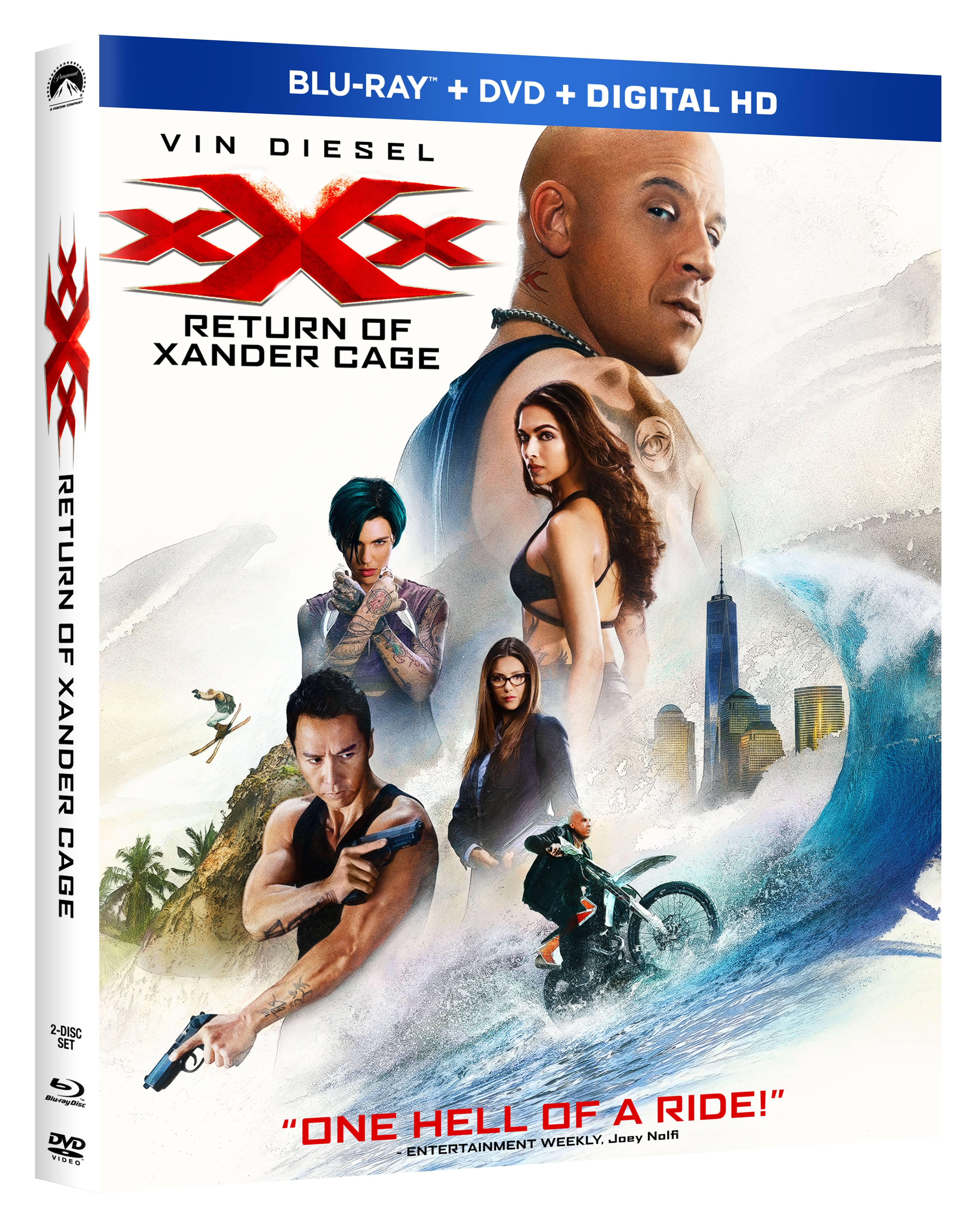 XXX RETURN OF XANDER CAGE Blu-ray